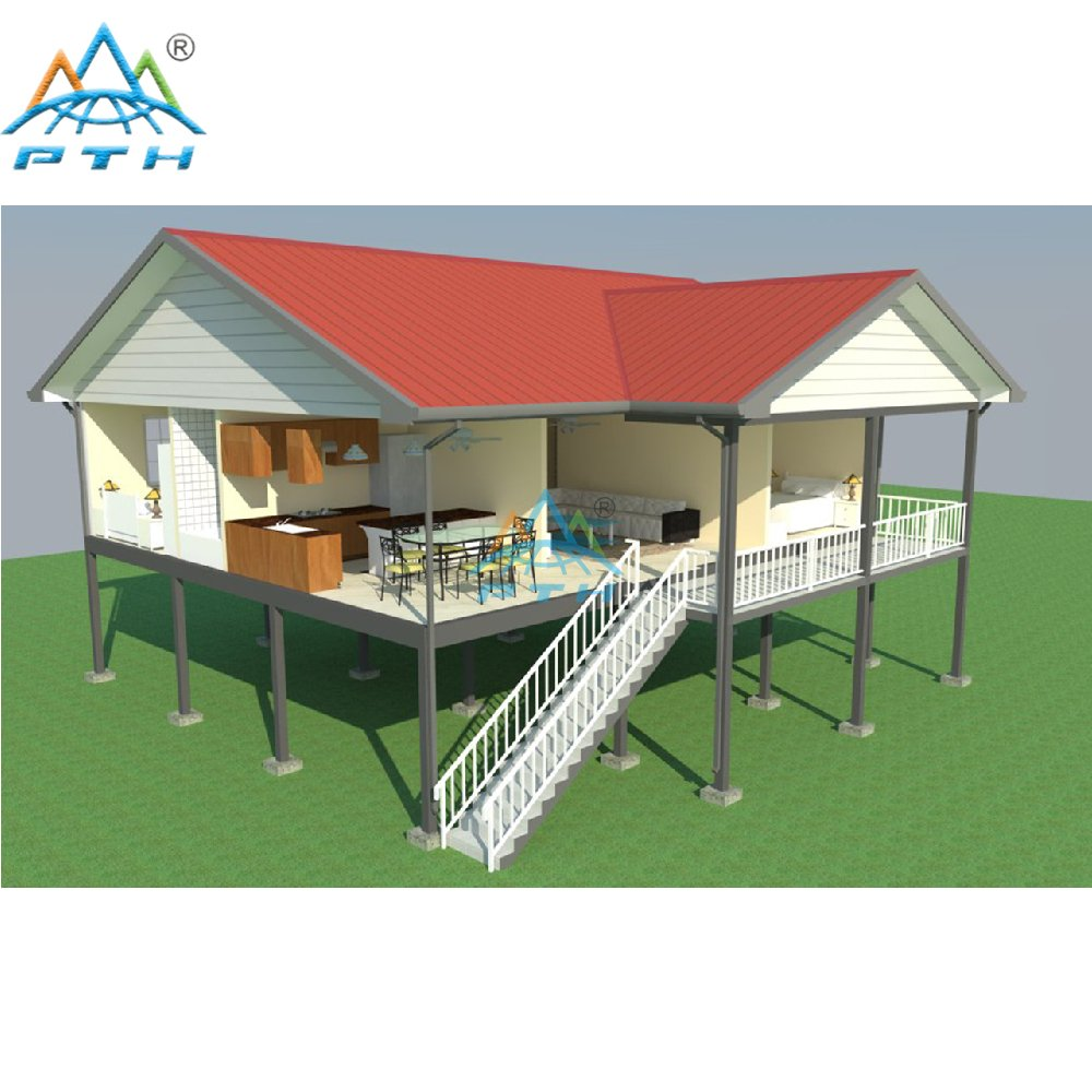 Luxury Prefabricated Light Steel Structure Villa With 4 Bedroom